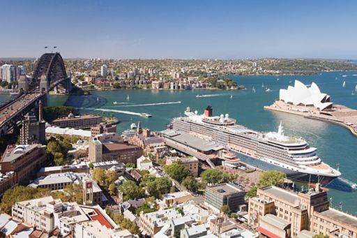 Sydney Harbour, including the Sydney Opera House and the Harbour Bridget
