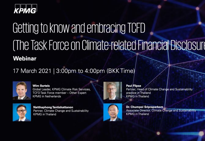 Getting to know and embracing TCFD (The Task Force on Climate-related Financial Disclosures)