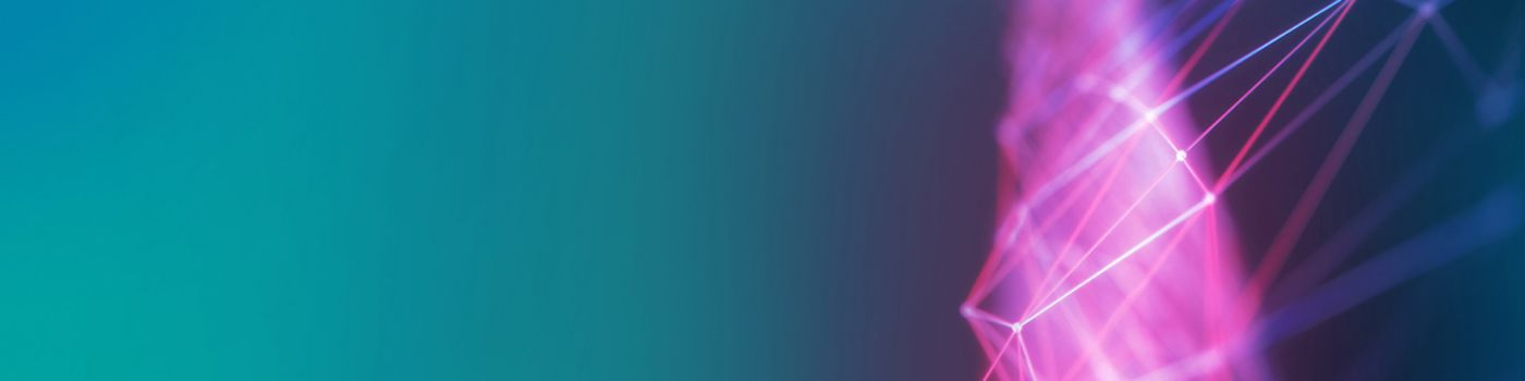 Blue and pink lines on green background - Texture image
