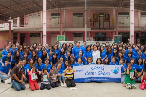 KPMG in Thailand's staff joined forces to give back to communities