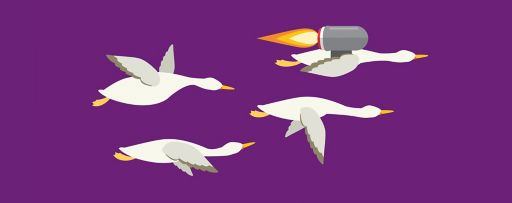Goose with a jetpack