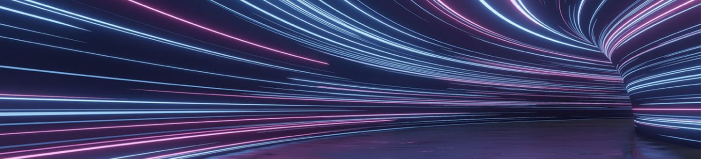 Timelapse of a tunnel with lights