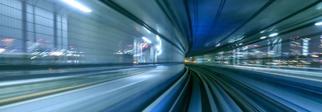 Timelapse of train moving in Tokyo