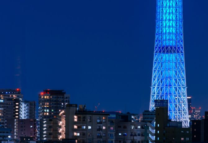 Tokyo blue glass building