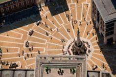 Top-down view of a monument