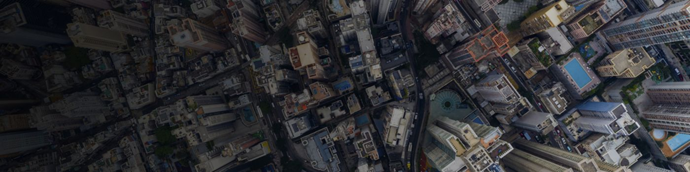 Top view of asian city