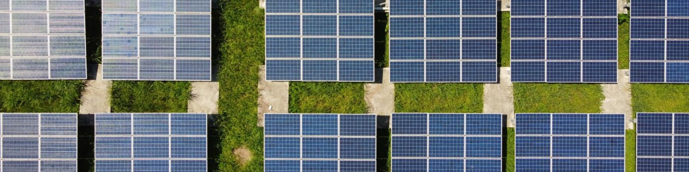 Top view of solar field