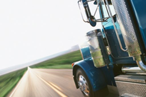 Subsistence allowances to lorry drivers - truck on a long road