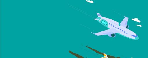 Two aeroplanes flying with GHG smoke - illustration