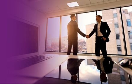 Handshake. Conclusion of the agreement, transaction business people working.