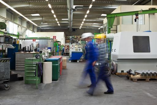 Workers in factory