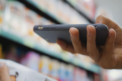 Using mobile phone in a retail store