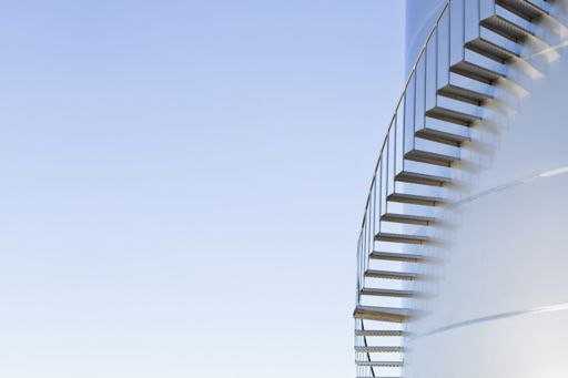 Venture capital funding in Insurtech - building with stairs