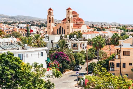 View of the town of Paphos in Cyprus
