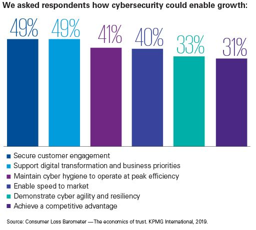 We asked respondents how cyber-security could enable growth