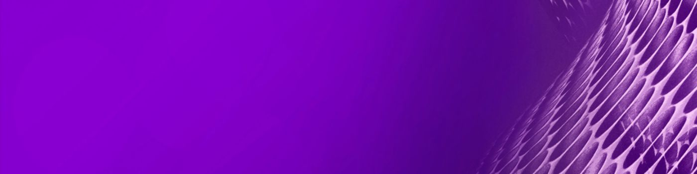 Web of purple ovals pattern against blue background