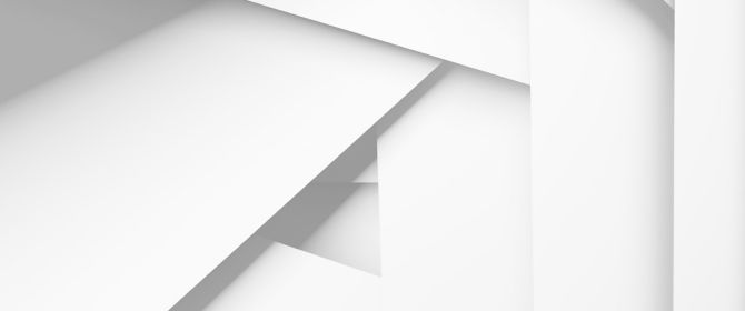 white overlapping forms
