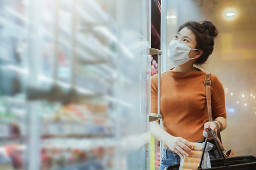 Woman doing groceries